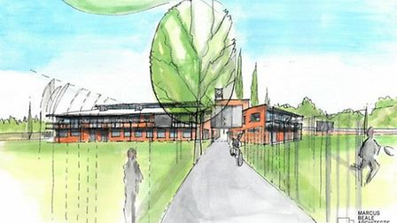 An artist's impression of the proposed pavilion.