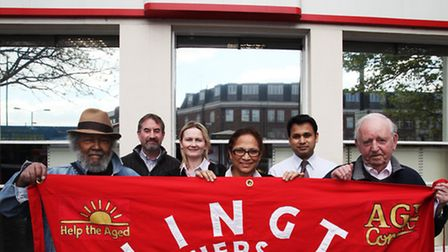 Pensioners and Holloway Post Office staff demonstrate to save the branch Pic: Isabel Infantes