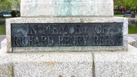 The memorial to Richard Henry Reeve at Kensington Gardens in Lowestoft. Pictures: Mick Howes