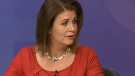 Julia Hartley-Brewer on BBC Question Time. Photograph: BBC.
