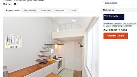The property is in a sought-after location, which may explain the whopping price for the tiny house