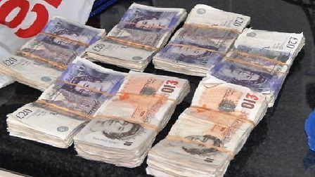 Police found £7,000 hidden in a holdall