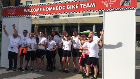 Business Design Centre team complete Angel2Angel cycle ride