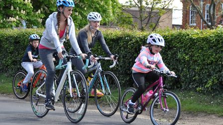 Cyclists enjoy the Beccles Cycle for Life charity ride. Picture: John Swanbury