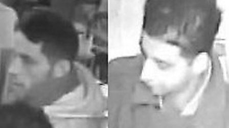 These men are wanted in connection with the theft of a handbag in Madam Gautiers restaurant (now the