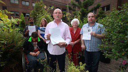 Residents, of 10 Epworth Street, are upset about the building surrouding their outdoor roof garden.