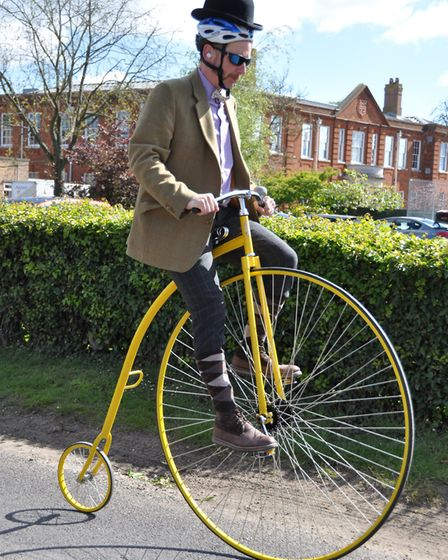 Cyclists set out on the Beccles Cycle for Life charity ride. Picture: John Swanbury