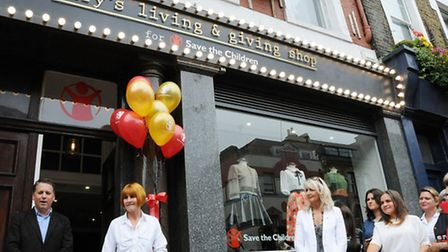 Mary Portas and Save the Children chief executive Justin Forsyth at the opening of her new shop on U
