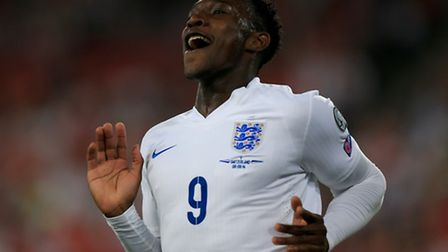 England's Danny Welbeck celebrates scoring his sides first goal of the game during a UEFA Euro 2016
