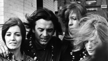 David Bailey with (from left) Christine Keeler, Penelope Tree and Marianne Faithfull. Photo: McCarth