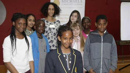 Katherine Birbalsingh meeting new pupils at a special welcome event (pic credit: Jan Nevill)