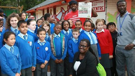Audley Harrison attended the playground as a child (Pic credit: Angela Blake)