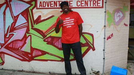 Audley Harrison is supporting calls to save the playground (Pic credit: Angela Blake)