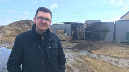 Andrew Oldman, whose building firm Oldman Homes lost equipment worth £100,000 in a fire at a builder