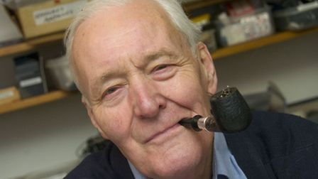 Tony Benn at home in Holland Park in 2008. Picture: Nigel Sutton.