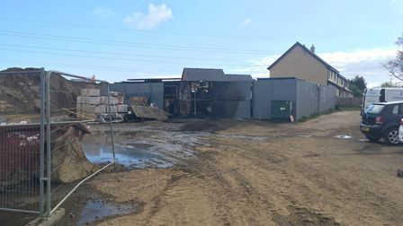 Equipment worth around £100,000 was destroyed in a fire at a builders' yard at Woods Meadow in Oulto
