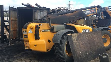 Among the items destroyed by the fire in Oulton was a JCB telehandler worth around £50,000. Picture: