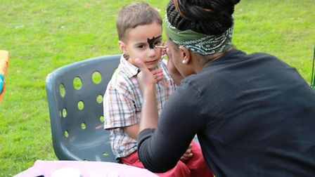 A youngster enjoying the face painting on offer (Pic credit: Angela Blake)