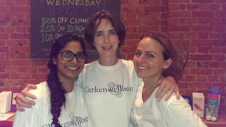 Clerkenwellbeing founders, from left, Shaheeda Chowdhury, Charlotte Morgan and Francesca Minischetti