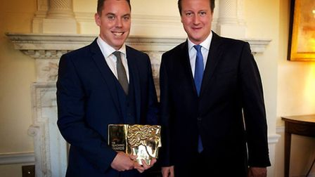 Colin Hegarty with PM David Cameron (Pic credit: Facebook)