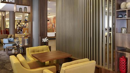 Lounge at new DoubleTree Hilton in Islington