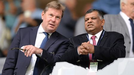 QPR chairman Tony Fernandes (right) with QPR chief executive Phil Beard