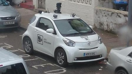 One of the council's CCTV car parked in a disabled bay in Harlesden