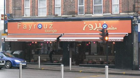 Fayrouz Lounge in Neeld Parade, Wembley (Pic credit: Brent Council)