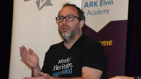 Wikipedia founder Jimmy Wales delivered a speech at the school in Wembley