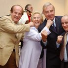 Mary Powell Pictured with members of the Ex London Boxers Association. Picture by Dieter Perry