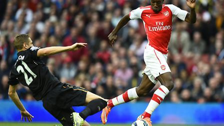 Arsenal's Danny Welbeck in action against Hull (Photo by Mike Hewitt/Getty Images)