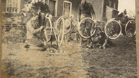 Photos of the 25th London Cyclists Battalion which roamed Suffolk's coast during the First World War