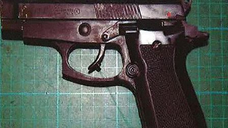 One of the converted replica guns found by police