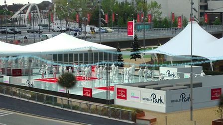An ice rink will open in Wembley next month