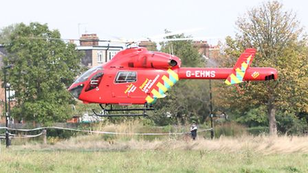 London's Air Ambulance attended the scene