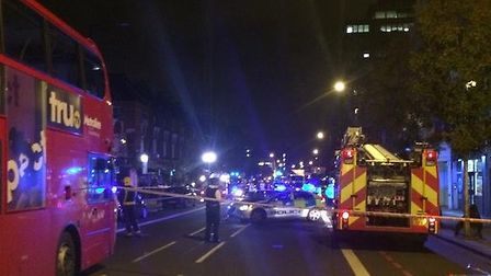 Sam Mason tweeted this picture of the emergency services at the scene