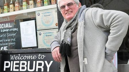 Paul Campbell outside the Piebury Corner