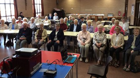 Back then - the start of the Lowestoft Evacuees Summer Reunion in 2017 at the Stella Maris Hall, Gor