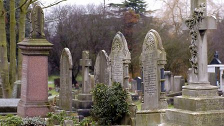 A spot at St Pancras and Islington Cemetery cemetery will cost up to £10,000 from next year Pic: Edm