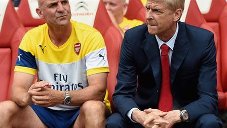 Steve Bould and Arsene Wenger (Photo by Michael Regan/Getty Images)