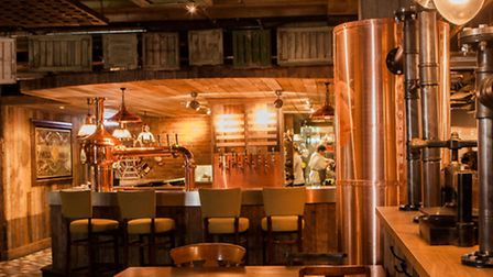 The decor of the Brewhouse is part cosy pub, part city bar, with a microbrewery dominating the rear