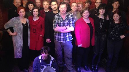 MP Emily Thornberry and campaigners at the Buffalo Bar