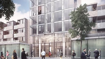 An artist's impression of how the re-clad hill House would look