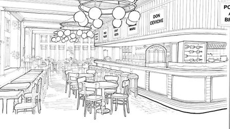An artist's impression of the Ceviche Old Street