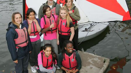 Keen sailors with the new dinghys Pic: Steve Poston