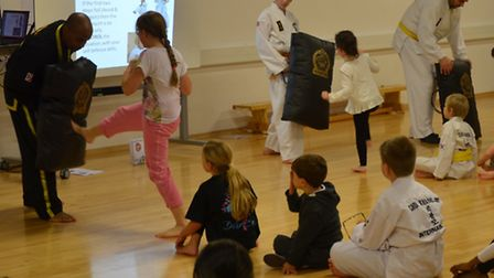 Wembley children learn Choi Kwang Do in anti bullying workshops
