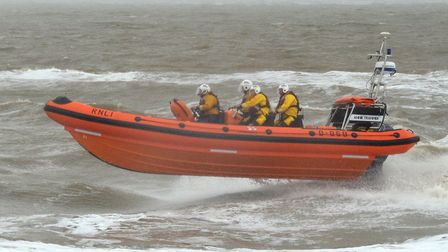 Southwold inshore lifeboat the Annie Tranmer on a previous call out. Picture: Mick Howes/RNLI