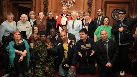 The winners of the Mayor of Islington's Civic Awards 2014 with then Mayor Cllr Barry Edwards