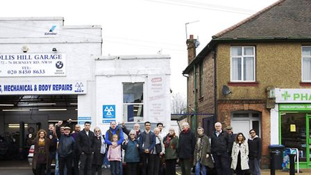 Residents are fighting plans to convert the garage into a supermarket