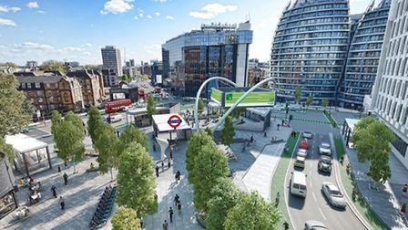 The new look Old Street roundabout